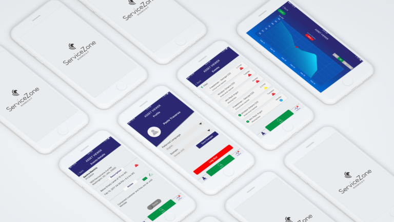 asset tracking mobile app UI UX design